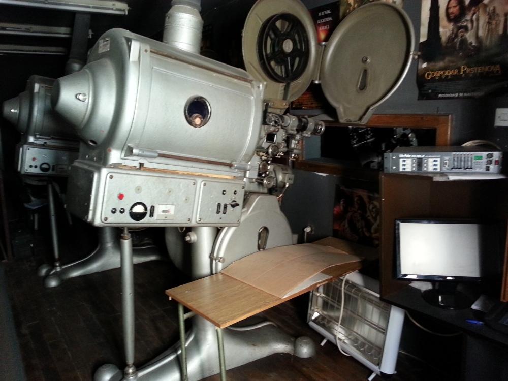 Stari projektor u ubskom bioskopu