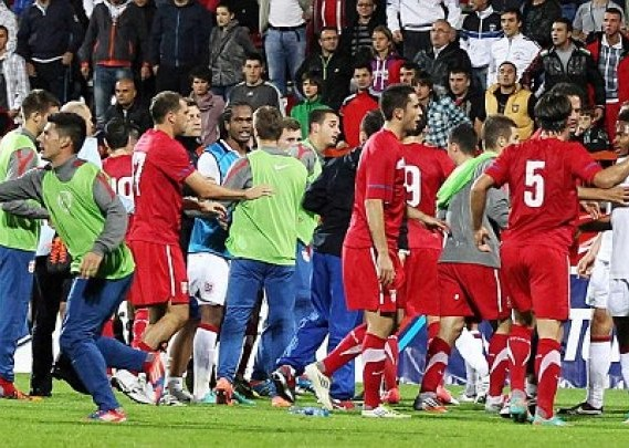 Tuča na utakmici u Kruševcu