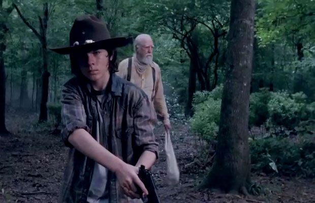The-Walking-Dead-Season-4-Carl-in-the-Woods