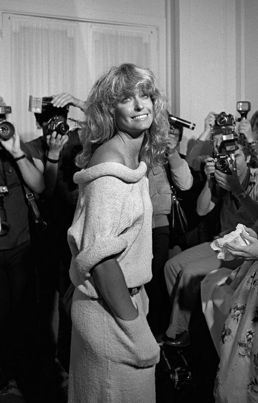 American Tv star Farrah Fawcett attends the 31th Cannes Film Festival on May 21, 1978. AFP PHOTO RALPH GATTI / AFP PHOTO / RALPH GATTI