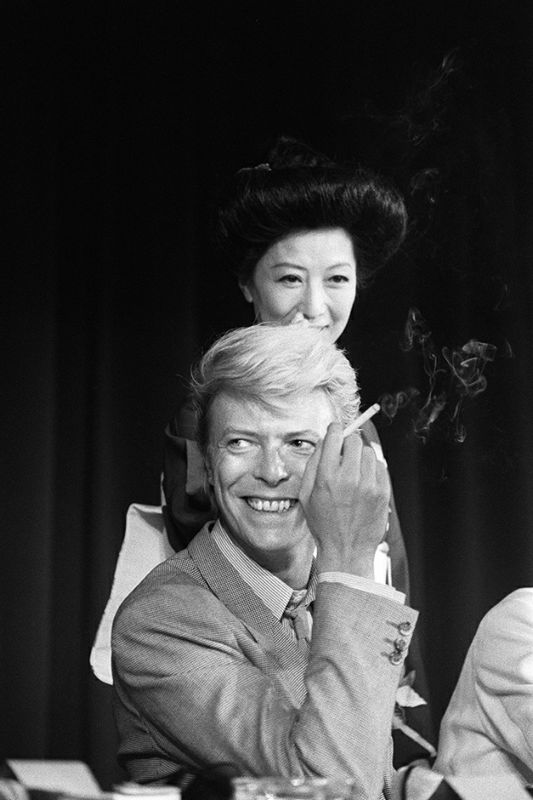 "A portrait taken on May 13, 1983 shows British singer David Bowie during a press conference at the 36th Cannes Film Festival. He is the main actor in Nagisa Oshima's film ""Furyo (Merry christmas Mr. Lawrence)"", official selection in Cannes. He is also with French actress Catherine Deneuve maina ctor in Tony Scott's film ""The hunger"" presented out competition at the festival. AFP PHOTO RALPH GATTI / AFP PHOTO / RALPH GATTI"