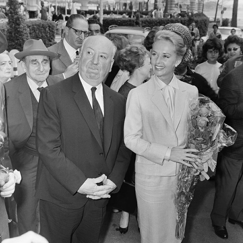 "FILE - In this May 9, 1963 file photo, director Alfred Hitchcock and American actress Tippi Hedren arrive at the Carlton Hotel in Cannes, France for the presentation of their film ""The Birds"" at the Festival Palace. The Cannes Film Festival officially gets underway on Wednesday, May 11, 2016 and as usual it's set to be one of the most dazzling events in the European entertainment calendar. The festival, in its 69th year, brings a mix of Hollywood A-listers and world cinema auteurs to the French Riviera. (AP Photo/Jean Jacques Levy, File)"