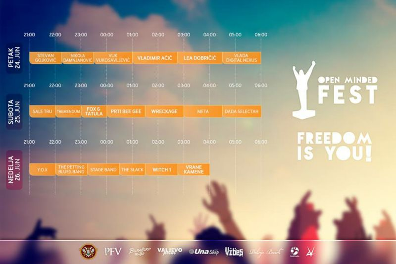 Zvaničan lineup Open Minded Festa
